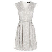 Buy Oasis Bonded Lace Dress, Pale Grey Online at johnlewis.com