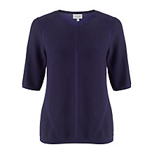 Buy Jigsaw Cotton Plated Sweater, Blue Online at johnlewis.com