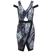 Buy Miss Selfridge Asymmetric Hem Printed Body Dress, Multi Online at johnlewis.com