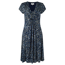 Buy Jigsaw Petal Print Jersey Dress, Blue Online at johnlewis.com