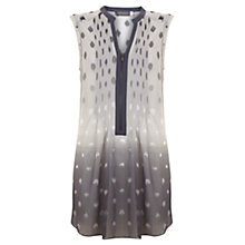 Buy Mint Velvet Ombre Spot Print Tunic Top, Grey Online at johnlewis.com