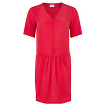 Buy Jigsaw Seam Detail Silk Dress, Bright Pink Online at johnlewis.com