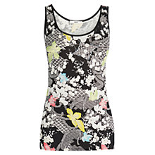 Buy Oasis Falling Leaf Print Vest, Black Online at johnlewis.com
