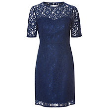 Buy True Decadence Sweetheart Lace Bodycon Dress, Navy Online at johnlewis.com