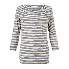 Buy John Lewis Capsule Collection Waved Lined Cowl Neck Top, Grey Online at johnlewis.com