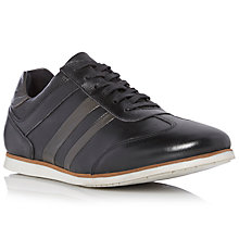Buy Dune Tombola Stripe Leather Trainers, Black Online at johnlewis.com