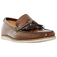 Buy Dune Bachelor Pad Hi Shine Leather Tassel Loafers, Tan Online at johnlewis.com