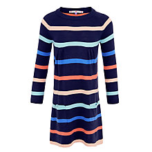 Buy John Lewis Girl Stripe Knit Dress, Multi Online at johnlewis.com