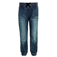Buy John Lewis Boys' Elasticated Denim Trousers, Blue Online at johnlewis.com