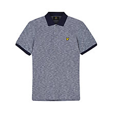 Buy Lyle & Scott Oxford Slub Pique Polo Shirt, Navy Online at johnlewis.com
