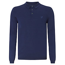 Buy Lyle & Scott Knitted Polo Top, Navy Online at johnlewis.com