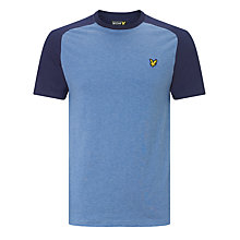Buy Lyle & Scott Saddle Shoulder T-shirt, Navy Online at johnlewis.com