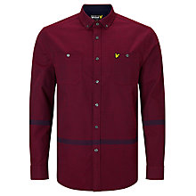 Buy Lyle & Scott Fairisle Over Shirt, Navy/Red Online at johnlewis.com