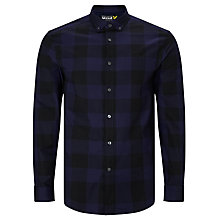 Buy Lyle & Scott Block Check Shirt, Black/Blue Online at johnlewis.com
