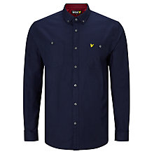 Buy Lyle & Scott Fairisle Detail Over Shirt, Navy Online at johnlewis.com
