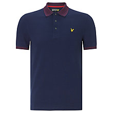 Buy Lyle & Scott Fairisle Collar Polo Shirt, Navy Online at johnlewis.com