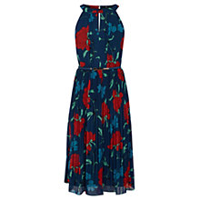 Buy Oasis Botanical Dress, Multi Blue Online at johnlewis.com