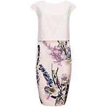 Buy Ted Baker Moline Torchlit Floral Layer Dress, Baby Pink Online at johnlewis.com