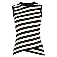 Buy Karen Millen Fitted Stripe Vest, Black and White Online at johnlewis.com