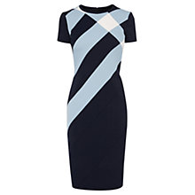 Buy Karen Millen Pencil Panel Check Dress, Blue Multi Online at johnlewis.com