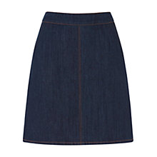 Buy Warehouse Denim Pelmet Skirt, Dark Wash Online at johnlewis.com