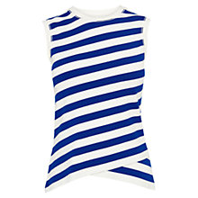 Buy Karen Millen Fitted Stripe Vest, Blue and White Online at johnlewis.com