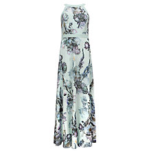 Buy Ted Baker Marxel Torchlit Floral Maxi Dress, Pale Green Online at johnlewis.com
