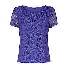 Buy Planet Circle Lace Top, Mid Purple Online at johnlewis.com