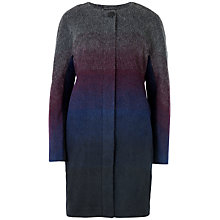 Buy Ted Baker Ceria Ombre Cocoon Coat, Mid Grey Online at johnlewis.com