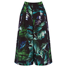 Buy Oasis Tropical Fern Print Culottes, Multi Online at johnlewis.com