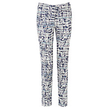 Buy Warehouse Blurred Stripe Trousers, Multi Online at johnlewis.com