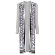 Buy Oasis Paisley Print Cardigan, Mid Grey Online at johnlewis.com
