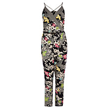 Buy Oasis Faling Leaf Print Jumpsuit, Multi/Black Online at johnlewis.com