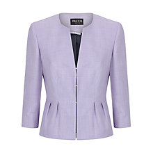 Buy Precis Petite Edge to Edge Text Jacket, Light Purple Online at johnlewis.com