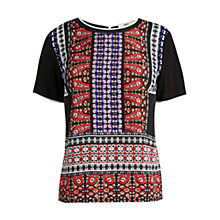 Buy Oasis Marrakesh Border T-Shirt, Black Online at johnlewis.com