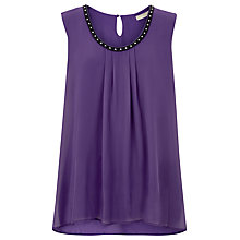 Buy Windsmoor Sleeveless Floaty Top, Dark Purple Online at johnlewis.com