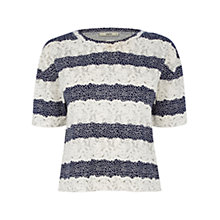Buy Oasis Puff Print T-Shirt, Multi Blue Online at johnlewis.com