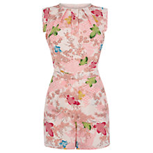Buy Oasis Falling Leaf Playsuit, Multi Online at johnlewis.com
