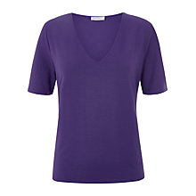 Buy Windsmoor V-Neck Jersey Top, Dark Purple Online at johnlewis.com