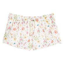 Buy Mango Floral Print Short, Light Biege Online at johnlewis.com