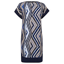 Buy Warehouse Zig Zag Print Block Dress, Multi Online at johnlewis.com