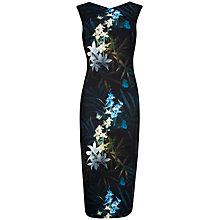 Buy Ted Baker Twilight Floral Dress, Black Online at johnlewis.com