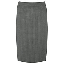 Buy Warehouse Pinstripe Skirt, Grey Online at johnlewis.com