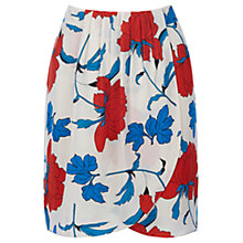 Buy Oasis Stylised Botanical Print Skirt, Multi/Natural Online at johnlewis.com