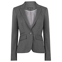 Buy Warehouse Pinstripe Blazer, Grey Online at johnlewis.com