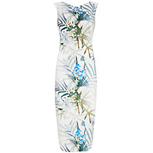 Buy Ted Baker Loua Twilight Floral Dress, Natural Online at johnlewis.com