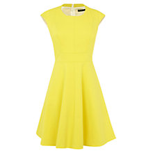 Buy Karen Millen Full Skirted Dress, Yellow Online at johnlewis.com