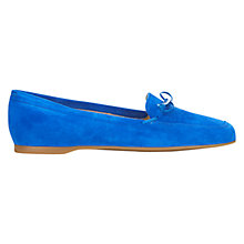Buy Hobbs Rosa Driver Suede Loafers, Cobalt Online at johnlewis.com