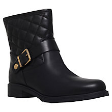 Buy Carvela Comfort Rafe Flat Calf Boots, Black Leather Online at johnlewis.com