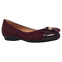 Buy Carvela Comfort Cleo Flat Suede Pumps, Wine Online at johnlewis.com